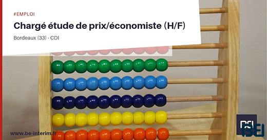 CHARGÉ ÉTUDE DE PRIX/ÉCONOMISTE