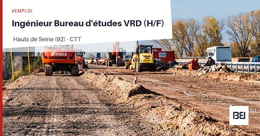 Ingénieur Bureau d'études VRD