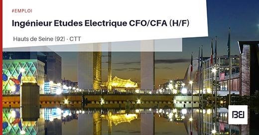INGÉNIEUR ETUDES ÉLECTRIQUES CFO/CFA