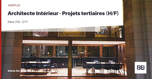 Offre d 39 emploi architecte int rieur projets tertiaires h f bureau d 39 tude interim - Offre d emploi bureau d etude ...