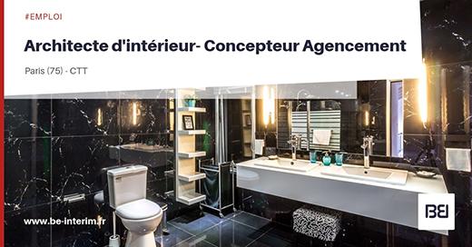 Architecte d'intérieur - concepteur agencement