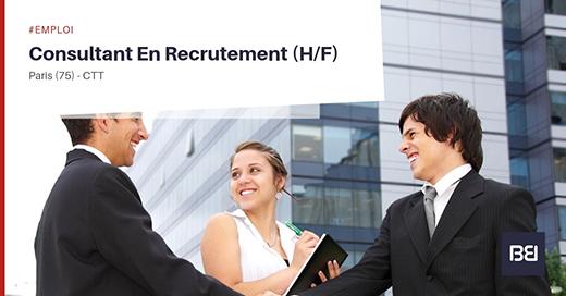 Offre demploi consultant en recrutement bureau détude interim