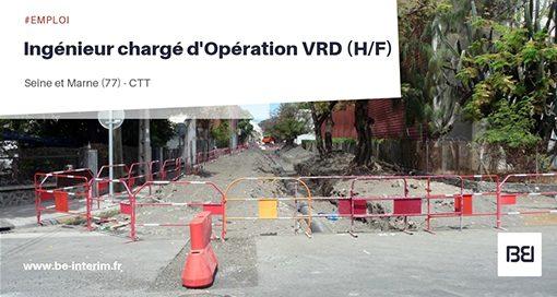 Ingénieur chargé d'Opération VRD