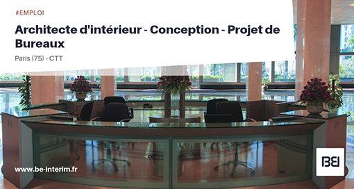 Architecte d'intérieur - Projet de Bureaux