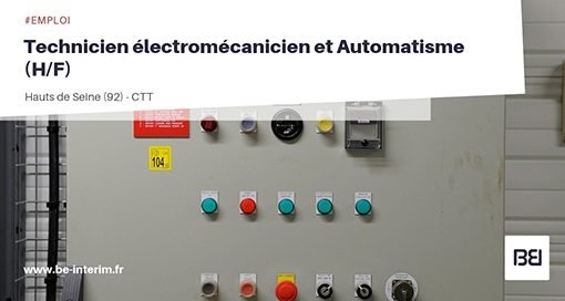 Technicien électromécanicien et Automatisme