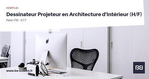 Dessinateur Projeteur en Architecture d'Intérieur