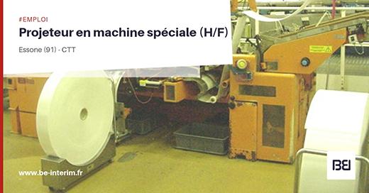 Projeteur en machine spéciale