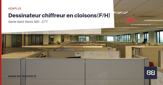 DESSINATEUR CHIFFREUR EN CLOISONS