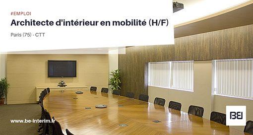 ARCHITECTE D'INTERIEUR EN MOBILITE