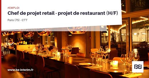 CHEF DE PROJET RETAIL - PROJET DE RESTAURANT