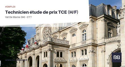 TECHNICIEN ETUDE DE PRIX TCE