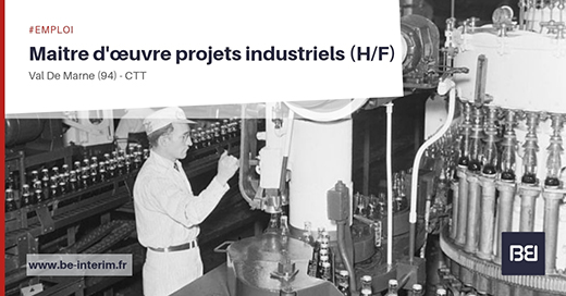 Offre d 39 emploi maitre uvre projets industriels h f bureau d 39 tude interim - Offre d emploi bureau d etude ...