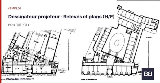 Offre d 39 emploi dessinateur projeteur relev s et plans h f bureau d 39 tude interim - Offre d emploi bureau d etude ...