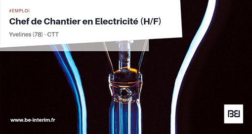 CHEF DE CHANTIER ELECTRICITÉ