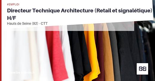 DIRECTEUR TECHNIQUE EN ARCHITECTURE