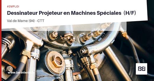 Offre d 39 emploi dessinateur projeteur en machines speciales h f bureau d 39 tude interim - Offre d emploi bureau d etude ...