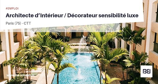 ARCHITECTE D'INTÉRIEUR - DÉCORATEUR