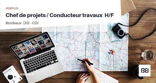 CHEF DE PROJETS - CONDUCTEUR TRAVAUX