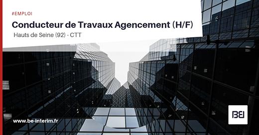 CONDUCTEUR DE TRAVAUX EN AGENCEMENT