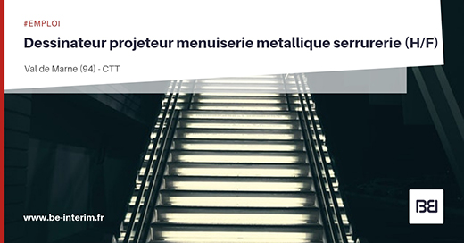 Projeteur menuiserie métallique serrurerie