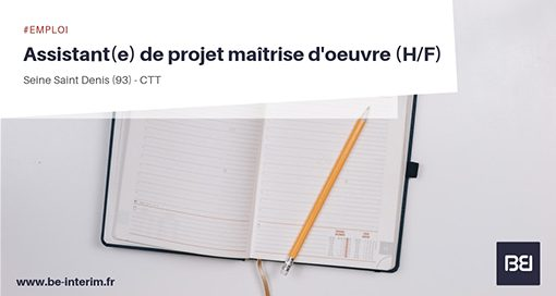 ASSISTANT DE PROJET MAÎTRISE D'OEUVRE