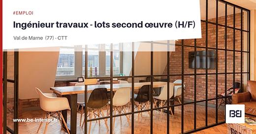 ngénieur Travaux - Lots second œuvre