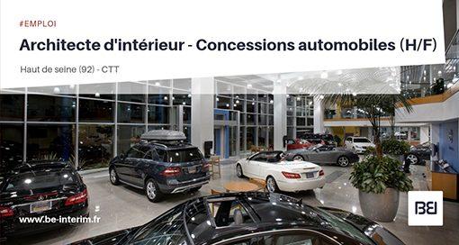 ARCHITECTE D'INTÉRIEUR - CONCESSIONS AUTOMOBILES
