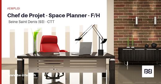 Chef de projet space planner f h bureau d 39 tude interim - Bureau de change seine saint denis ...